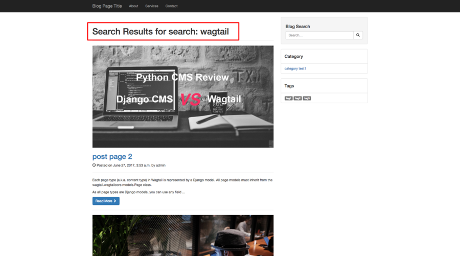 Wagtail Tutorials #7: Add Search Function In Wagtail Blog | AccordBox